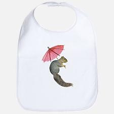 Squirrel Pink Parasol Bib
