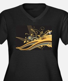 Floral and Geometric Swirls in G Plus Size T-Shirt