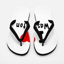 I Love Washington Flip Flops