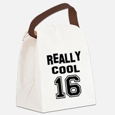 Really Cool 16 Birthday Designs Canvas Lunch Bag