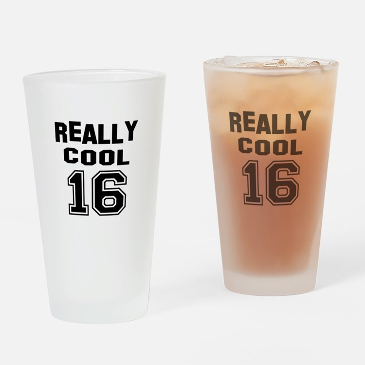 Really Cool 16 Birthday Designs Drinking Glass