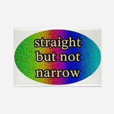 Funny Straight but not narrow Rectangle Magnet