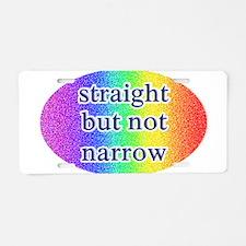 Funny Straight not narrow Aluminum License Plate