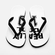 Really Cool 100 Birthday Flip Flops