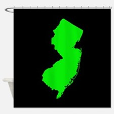 new jersey green black Shower Curtain
