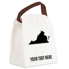 Custom Virginia Silhouette Canvas Lunch Bag