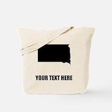 Custom South Dakota Silhouette Tote Bag