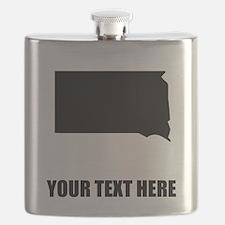Custom South Dakota Silhouette Flask