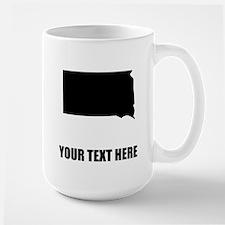 Custom South Dakota Silhouette Mugs