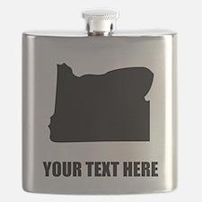 Custom Oregon Silhouette Flask