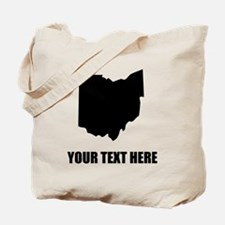 Custom Ohio Silhouette Tote Bag
