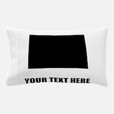 Custom North Dakota Silhouette Pillow Case