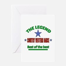 The Legend Country Eastern dance Bes Greeting Card