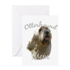 Otterhound Mom2 Greeting Card