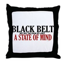Not Just The Color Of A Belt Throw Pillow