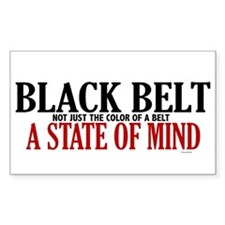 Not Just The Color Of A Belt Rectangle Decal