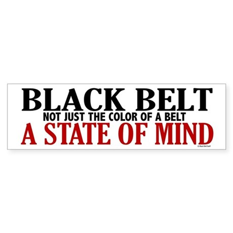 Not Just The Color Of A Belt Bumper Sticker