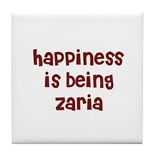happiness is being Zaria Tile Coaster