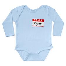 Nametag Long Sleeve Infant Bodysuit