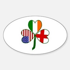 Shamrock of England Small Decal