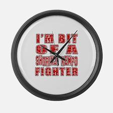 I'm Bit Of Shorinji Kempo Fighter Large Wall Clock