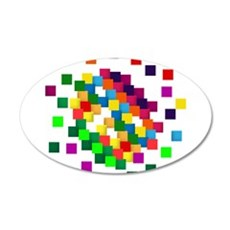 Cube mosaic puzzle Wall Sticker