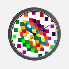 Cube mosaic puzzle Wall Clock