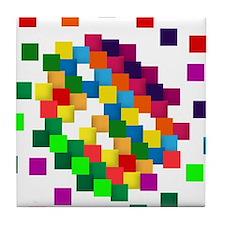 Cube mosaic puzzle Tile Coaster