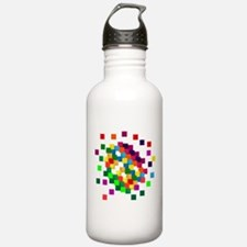 Cube mosaic puzzle Sports Water Bottle