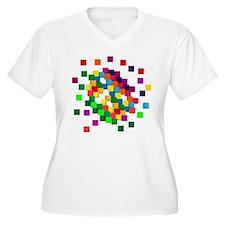 Cube mosaic puzzle Plus Size T-Shirt