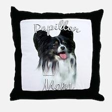 Papillon Mom2 Throw Pillow