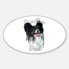 Papillon Dad2 Oval Decal