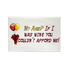 Fine Wine Rectangle Magnet