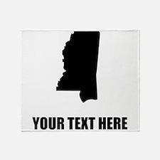 Custom Mississippi Silhouette Throw Blanket
