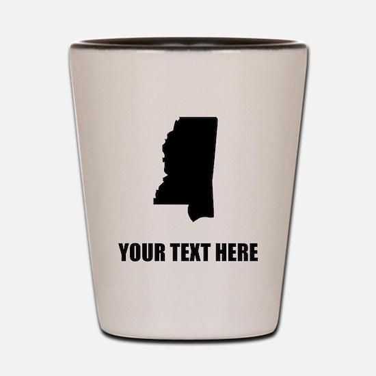 Custom Mississippi Silhouette Shot Glass