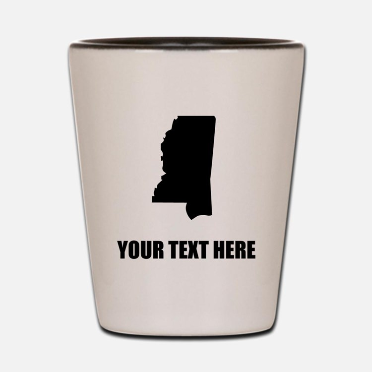 Custom Mississippi Silhouette Shot Glass