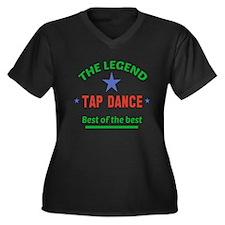 The Legend T Women's Plus Size V-Neck Dark T-Shirt