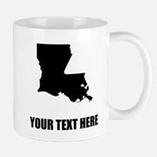 Custom Louisiana Silhouette Mugs
