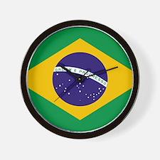 Brasil Flag Wall Clock