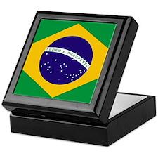 Brasil Flag Keepsake Box