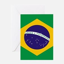Brasil Flag Greeting Cards