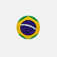 Brasil Flag Mini Button