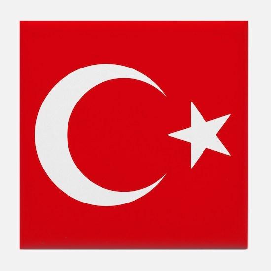 Turkey Flag Tile Coaster