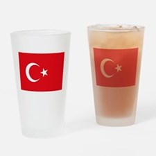 Turkey Flag Drinking Glass