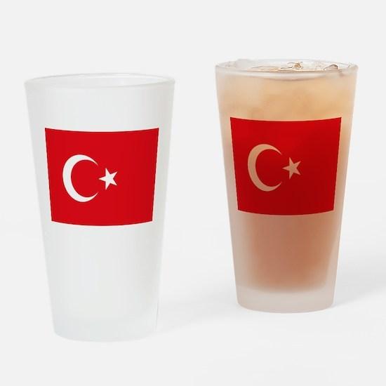 Turkey Flag Drinking Glass