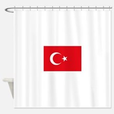 Turkey Flag Shower Curtain