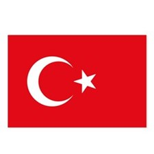 Turkey Flag Postcards (Package of 8)
