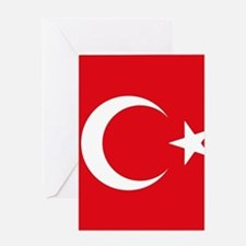 Turkey Flag Greeting Cards