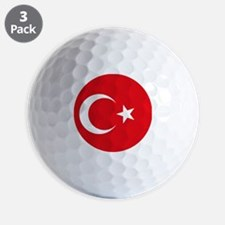 Turkey Flag Golf Ball