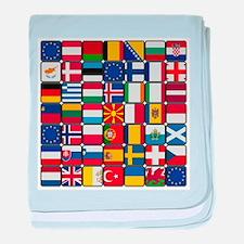 Flag of Flag baby blanket